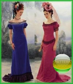 Victorian Tea Dresses and Gowns | Details about Titanic Era Late Victorian Dress/Gown Patterns 6-10