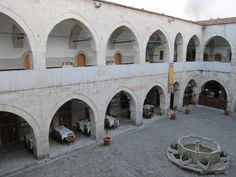 Inner courtyard of Cinci Han, Caravanserai, Safranbulo, Turkey Infinity The Game, Silk Road, Old City, Neon Lighting, Travel, Silk, Viajes, Old Town, Trips