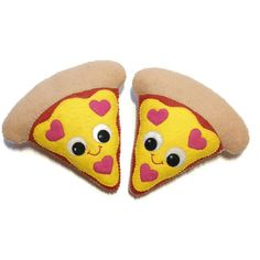 Pizza Plush  Pizza Decoration  Junk Food by ClaireyLouCreations