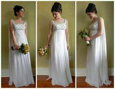 Celtic, beautiful ritual dress/hand fasting dress