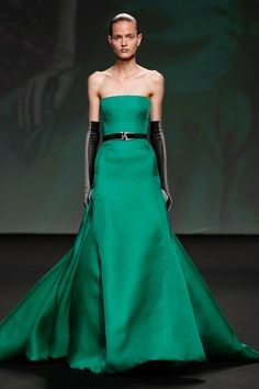 Dior Haute Couture Autumn-Winter 2013 – Look 51: Green silk evening dress. Discover more on www.dior.com #Dior#PFW