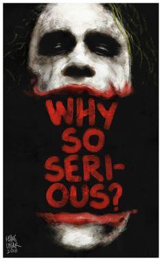 #joker #jokerart #whysoserious #heathledger