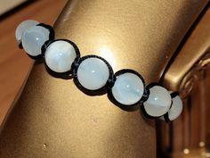 Flechtarmbänder - Shamballa, mit echtem Mondstein und Hämatit - ein Designerstück von 4yourhelp bei DaWanda