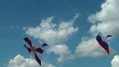 Парашутисты развернули флаги в небе в честь 100 летия ВВС России