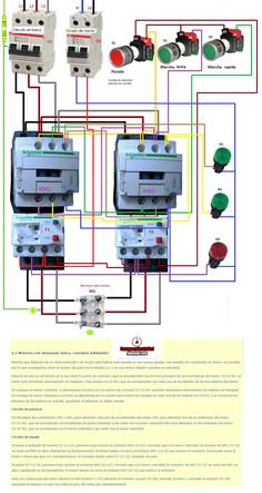 Esquemas eléctricos: motor con devanado unico conexion dahlander