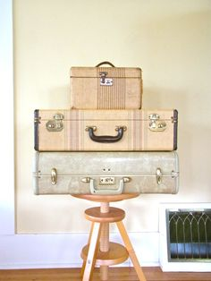 ivory marbled suitcase vintage suitcases old by thespectaclednewt