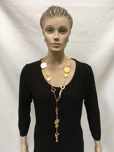 Vintage Belt Kenneth Jay Lane Golden Link Adjustable Necklace