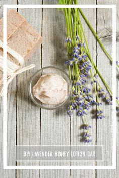 DIY Lavender Honey Lotion Bars recipe with Young Living essential oils.