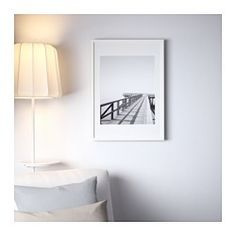 """IKEA - RIBBA, Frame, 12x16 """", , Can be hung horizontally or vertically to fit in the space available.The mat is acid-free and will not discolor the picture.Can also be used without the mat for a larger picture.Front protection in plastic makes the frame safer to use."""