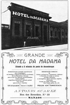 Anúncio do Hotel da Madama - Instituto Durango Duarte Grande Hotel, Nostalgia, Vintage, Firewood, Past, Street, Gift, Porto, Brazil