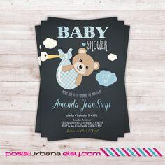 Invitaciones para baby shower - New Trend Baby Shower Oso, Teddy Bear Baby Shower, Shower Bebe, Baby Shower Gifts, Invitacion Baby Shower Originales, Imprimibles Baby Shower, Baby Shower Invitaciones, Baby Shower Invitations For Boys, Baby Shower Themes