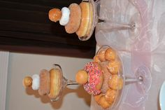 Donut cakes for the brunch party
