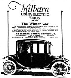 Vintage Newspaper Advertising For The 1919 Milburn Electric Automobile In Indianapolis News December 13