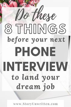 These 8 steps were such important reminders for me heading into the phone interview for my dream job! I feel prepared and confident to nail the interview. Interview Tips For Nurses, Interview Tips And Questions, Job Interview Preparation, Interview Questions And Answers, Job Interview Tips, Tips For Interview, Preparing For An Interview, Interview Coaching, Interview Process