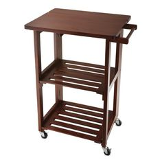 Folding Island Kitchen Cart With Extendable Shelves Practical