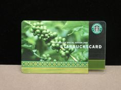 Starbucks Card: Green coffee cherry card. Stockholders only. Rare. There is also one where cherries are red.