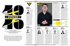Baltimore Magazine's 40 Under 40 on Behance by Lauren Giordano