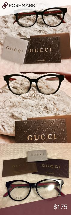New Gucci optical frames! These are all new, just came out! Brand new, never worn. 100% Authentic Gucci oversized round optical glasses. Measurements are 52, 16-145. Made in Japan. Super cute, on trend, and lightweight. Lenses can be switched out to fit your degree or made into sunglasses. Selling for less, I have too many frames. Gucci Accessories Glasses