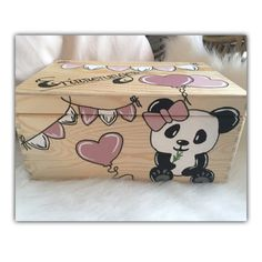 Painted Wooden Boxes, Hand Painted, Wooden Crafts, Diy And Crafts, Chocolate Box, Keepsake Boxes, Woodworking Crafts, Decoupage, Kids Room