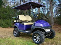Purple Club Car Precedent golf cart from King of Carts.  Nationwide delivery. 803-391-3145