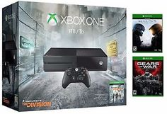 Buy Xbox One 1TB The Division bundle w/ Halo 5 & Gears of War: Ultimate Edition