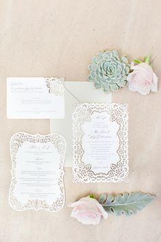 intricate lasercut invitations