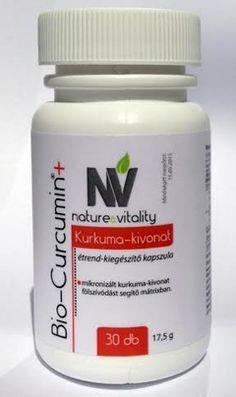 Bio-Curcumin®+ Kurkumin kivonat, étrendkiegészítő kapszula.(Micronizált kurkuma-kivonat felszívódást segítő mátrixban).