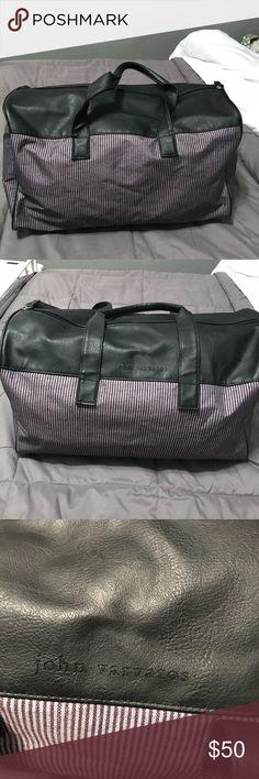 John Varvatos duffle bag unisex John Varvatos duffle bag in great used condition. Black and grey. Unisex John Varvatos Bags Travel Bags