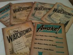 Vintage Jehovah Witness Awake and Watchtower Magazines 1970-1973