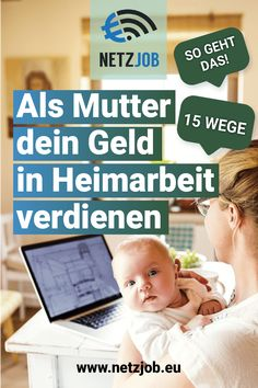 Heimarbeit: Geld verdienen mit diesen 17 Möglichkeiten There are several ways to earn money at home. Relaxed work at home – especially as a mother but a true luxury. Ways To Earn Money, Earn Money From Home, Money Tips, Way To Make Money, Earning Money, Budget Planer, Applied Science, Work From Home Jobs, Online Jobs