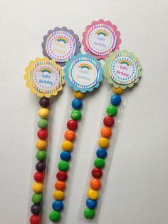 Rainbow Personalised Lolly Favour Tubes