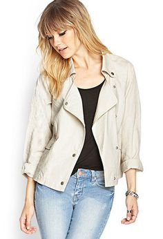 Linen-Blend Jacket | FOREVER21 - 2000061785