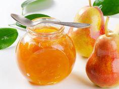 Przetwory z gruszek – jakie gruszki nadają się na przetwory, co można zrobić z gruszek Pear Jam, Fermented Foods, Healthy Sweets, Hot Sauce Bottles, Preserves, Cantaloupe, Berries, Mango, Food And Drink