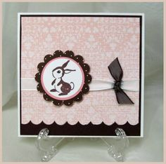 Bunny Card by Stampin' Meg - Cards and Paper Crafts at Splitcoaststampers