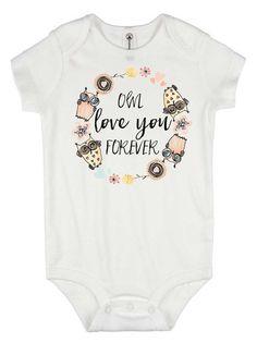 Cute baby gift mommys cutie pie baby shower gift grandbaby gift custom baby onesie owl love you forever baby shower gift cute baby negle Images