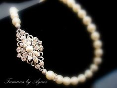 Bridal pearl necklace vintage style necklace with by treasures570, $80.00