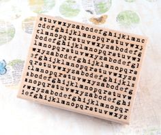 Typewriter Background - Wood Mounted Rubber Stamp