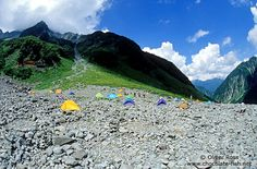 Campers near Kamikochi in the Japanese Alps