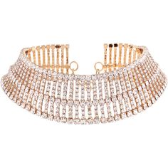 Golden Rhinestone Embellished Wide Choker Necklace ❤ liked on Polyvore featuring jewelry, necklaces, choker jewelry, choker necklace, choker jewellery, golden jewellery and golden jewelry