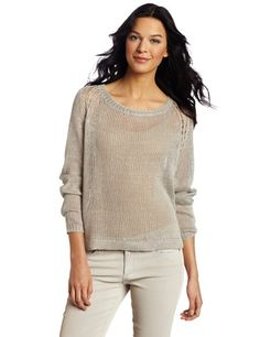 98a520dc1360aa Margaret O'Leary Women's Wrap Back Pullover Sweater, Graphite, Medium at Amazon  Women's Clothing store: Graphite, Pullover Sweaters
