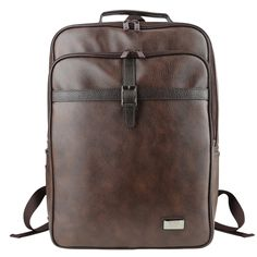 Mens Backpack for Laptop Faux Leather College Bag LEFTFIELD 681 (2)