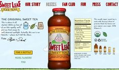 Sweet Leaf is 100% natural and they have a great story behind them
