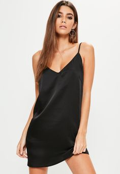 Missguided - Silky Cami Dress Black