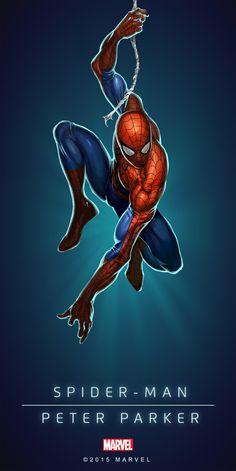 #Spiderman #Fan #Art. (Spider-Man In: Marvel Puzzle Quest!) My Amadeus Cho! ÅWESOMENESS!!!™ ÅÅÅ+