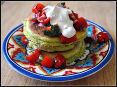 Ok, not sure if I will ever really make this, but hey, how about silver dollar pancakes from this recipie?  Good for dipping? Cornmeal, Avocado, and Lime Pancakes