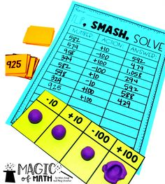 Teaching Strategies for Plus and Minus 1, 10, 100 Place Value Activities, 2nd Grade Activities, Father's Day Activities, Fun Summer Activities, Counting Activities, Teaching Strategies, Teaching Tips, Amy Lemons, Math Manipulatives