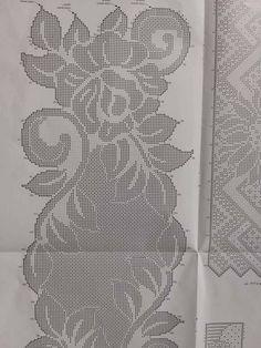 Crochet Doily Patterns, Crochet Chart, Lace Patterns, Filet Crochet, Crochet Doilies, Crochet Lace, Beading Patterns, Crochet Table Runner, Crochet Tablecloth