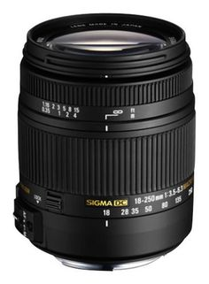 Sigma - 18-250mm f/3.5-6.3 DC Macro OS HSM All-in-One Zoom Lens for Canon - Black