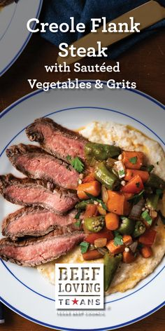 This delicious Flank Steak marinated in Creole flavors is sure to become a new family favorite. Creole Recipes, Cajun Recipes, Roast Recipes, Dinner Recipes, Cooking Recipes, Cajun Dishes, Beef Dishes, Rib Roast Recipe, Sauteed Vegetables