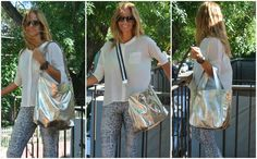 Silver leather bags www.facebook/pasionargentina